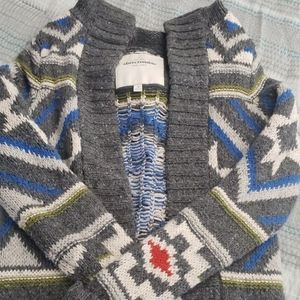 Multi-color hooded sweater